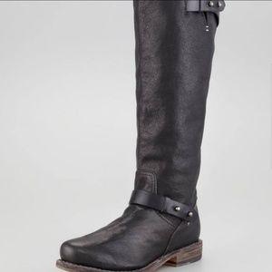 Rag & Bone Black Knee High Moto Boots